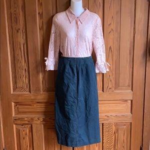 Vintage Denim Midi Skirt by Seasons